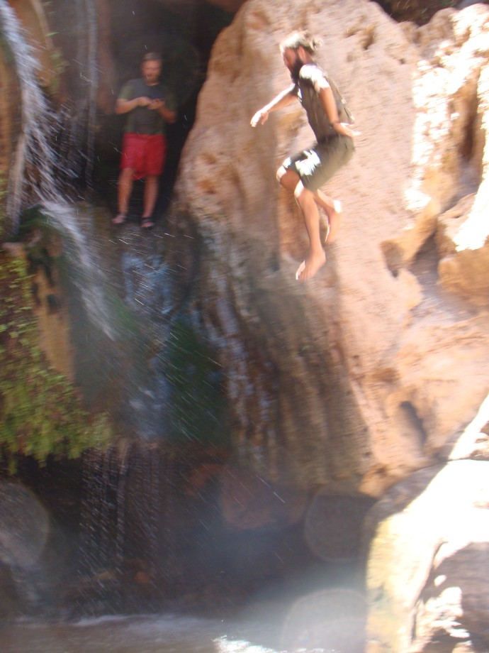 jumping off of waterfalls on side hikes, so refreshing!